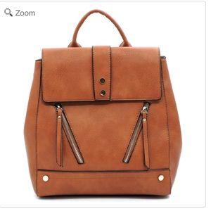 Handbags - NEW Fashion Zipper Flapover Backpack
